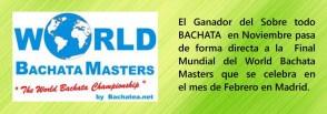 World bachata master. Cartelillo